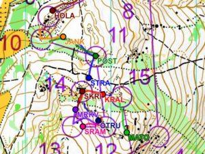 GPS tracking - Hanácké žebřík Bušín